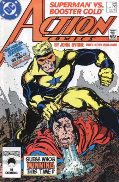 Action Comics 594 - Superman - Booster Gold - Mud - John Byrne