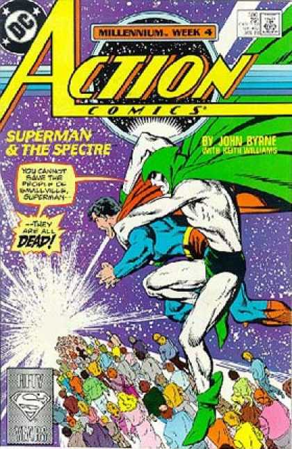 Action Comics 596 - Superman - Spectre - Dead - Smallville - John Byrne - John Byrne