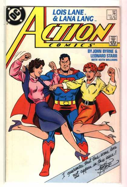 Action Comics 597 - Superman - Lois Lane - Lana Lang - Brunette - Two Women Fighting - John Byrne