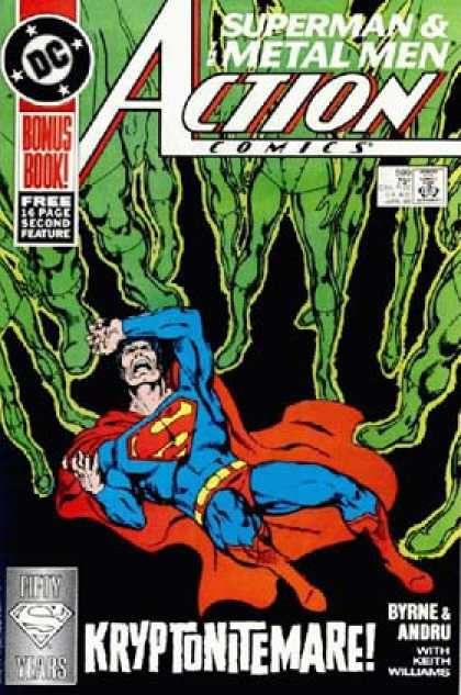 Action Comics 599 - Kryptonite - Superman - Supernatural - Space People - Fear In Numbers - John Byrne