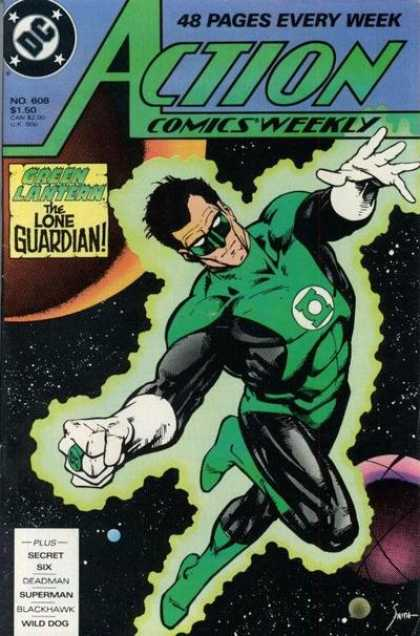 Action Comics 608 - Green Lantern - Space - Lone - Guardian - Glow