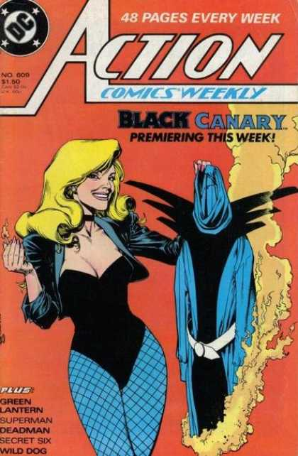 Action Comics 609 - Black Canary - Brian Bolland