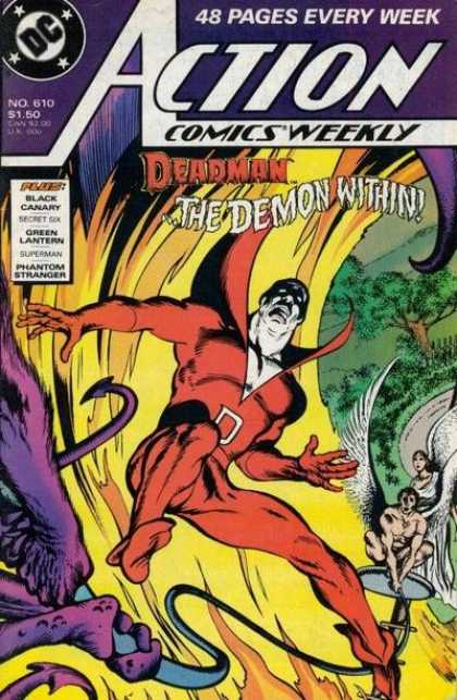 Action Comics 610 - Deadman - Demon - Flames - Angels - Angel - David Lloyd