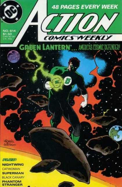 Action Comics 614 - Green Lantern - Space - Sun - Earth - Nightwing - Mike Mignola, Ty Templeton