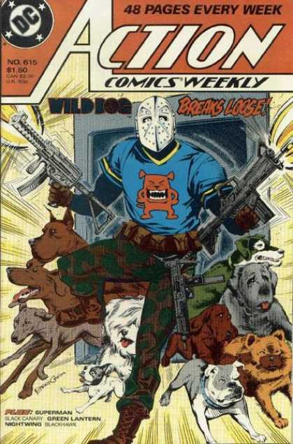 Action Comics 615 - Dogs - Guns - Gun - Wild Dog - Mask