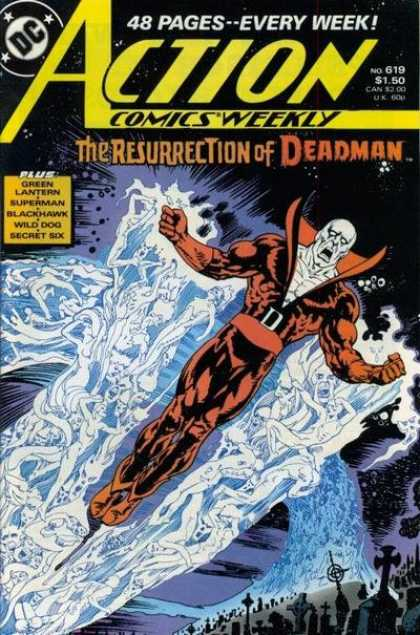 Action Comics 619 - Deadman - Ghosts - Graveyard - Space - Esteban Maroto
