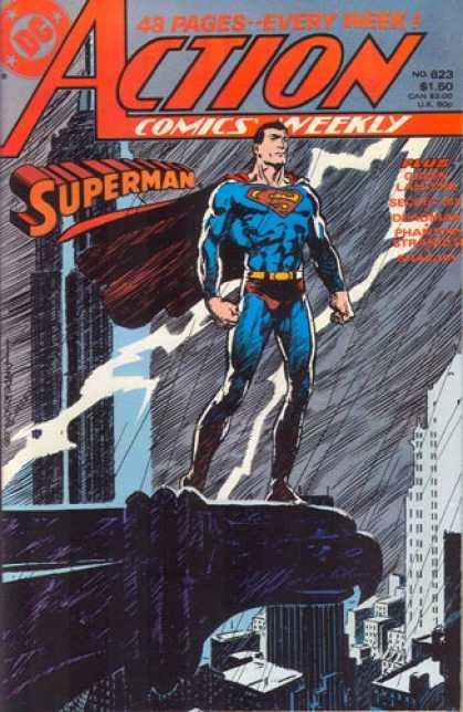Action Comics 623 - Lightning - Rain - Superman - Comics Weekly - Skyscraper