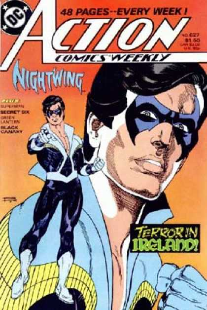 Action Comics 627 - Nightwing - Terror - Ireland - Mask