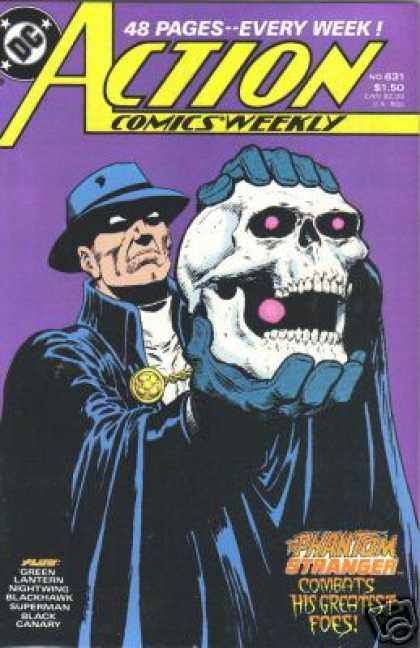 Action Comics 631 - Skull - Phantom - Stranger - Phantom Stranger - Hat - Jim Starlin