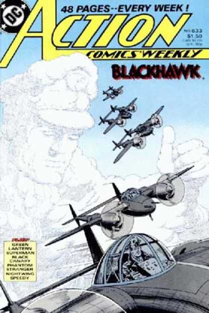 Action Comics 633 - Planes - Blackhawk - Clouds - Airplanes - Cloud - Curt Swan, Murphy Anderson