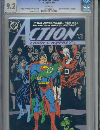 Action Comics 642 - Superman - Green Lantern - Nightwing - Hal Jordan - Deadman - Ross Andru