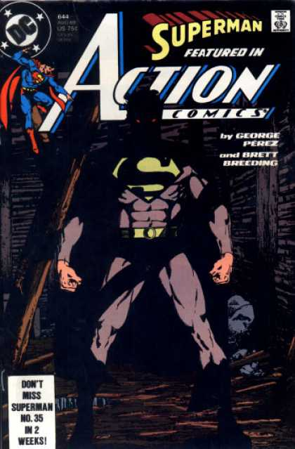 Action Comics 644 - Superman - Perez - Shadow - George Perez - Brett Breeding - George Perez
