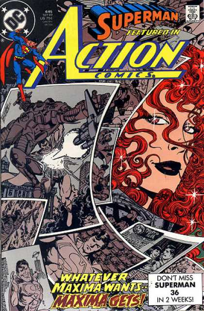 Action Comics 645 - Superman - Maxima - Dc - Approved By The Comics Code Authority - Maxima Gets - George Perez