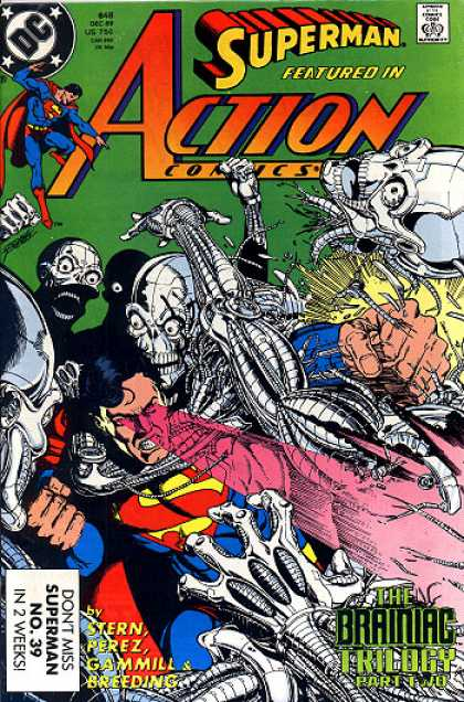 Action Comics 648 - Superman - Brainiac - Protection - Fearless Hero - Robot - George Perez