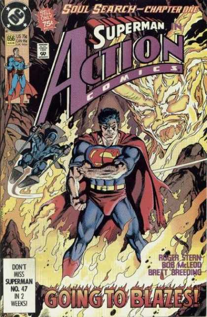 Action Comics 656 - Superman - Devil - Fire - Hell - Kerry Gammill