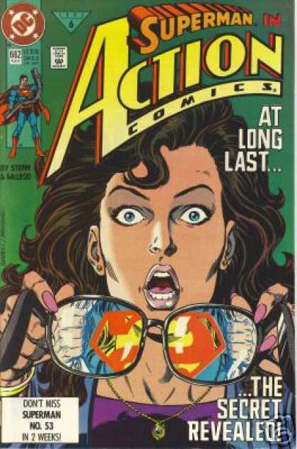 Action Comics 662 - Glasses - Lois Lane - Kerry Gammill