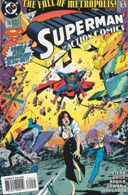Action Comics 700 - Superman - Explosion - Lois Lane - Double-sized Anniversarry Blow-out - Stern Guice - Barry Kitson, Tom Grummett