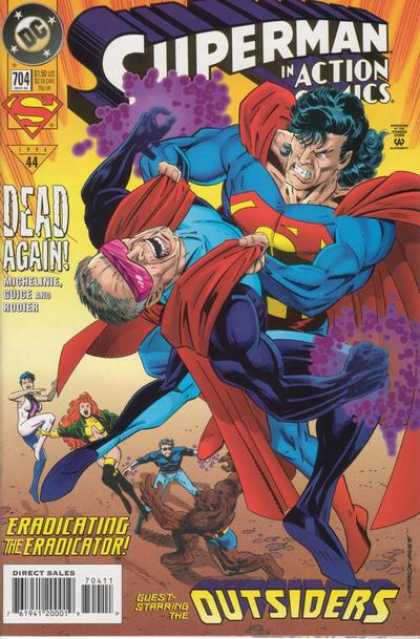 Action Comics 704 - Outsiders - Superman - The Eradicator - David Michelin - Butch Guice