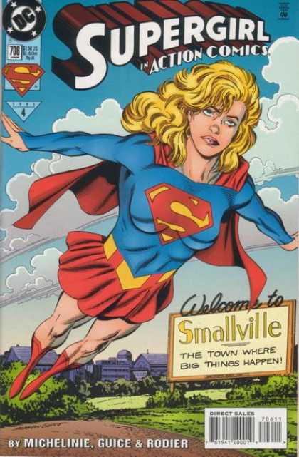 Action Comics 706 - Smallville - Supergirl - Michelinie - Guice - Rodier