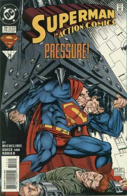 Action Comics 712 - Pressure - Superman - Spikes - Struggles - Michelini Guice