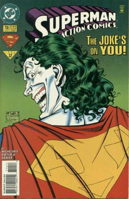 Action Comics 714 - Joker - Superman - Dc - Cape - Super Hero - Denis Rodier
