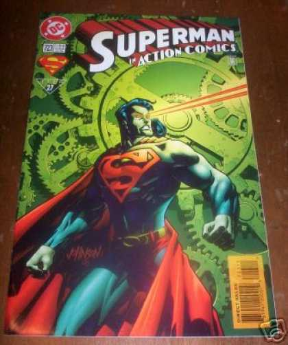 Action Comics 723 - Gears - Eyes - Superman