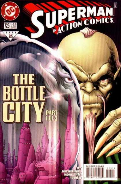 Action Comics 725 - Bottle - City - Kandor - Denis Rodier, Tom Grummett