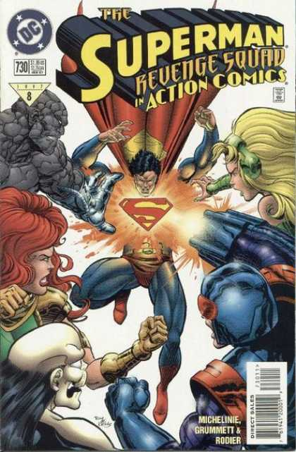 Action Comics 730 - Superman - Revenge Squad - Dc - Dc Comics - Super-man - Denis Rodier, Tom Grummett