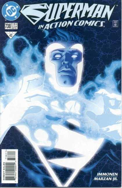 Action Comics 738 - Immonen - Voult - Smoke - Hair - Blue Eye - Stuart Immonen