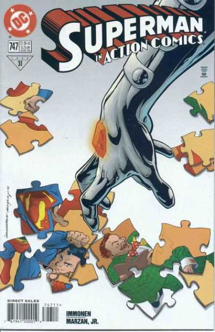 Action Comics 747 - Superman - Puzzle - Puzzle Pieces - Jewel - Silver Hand - Stuart Immonen