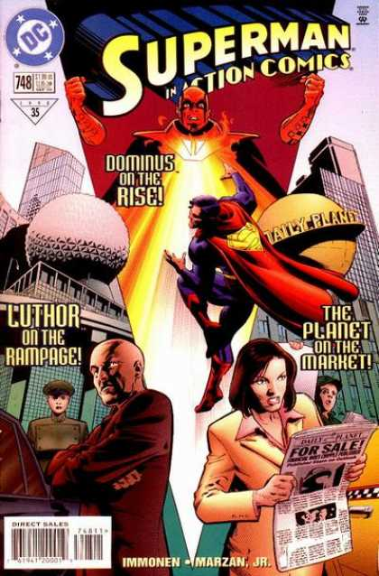 Action Comics 748 - Daily Planet - Lois Lane - Dominus - The Planet On The Market - Luthor On The Rampage - Stuart Immonen