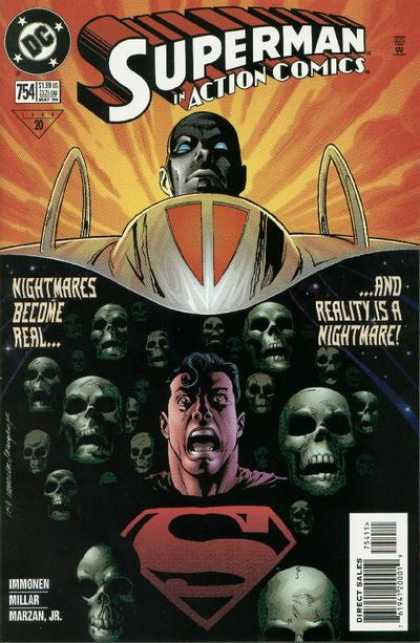 Action Comics 754 - Superman - Skulls - Nightmares Become Real - Head - Reality Is A Nightmare - Stuart Immonen