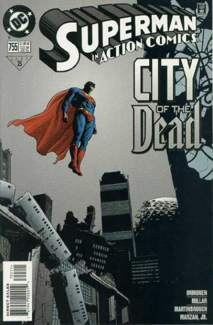 Action Comics 755 - Superman - Dark - City Of The Dead - Destruction - Train Wreck - Stuart Immonen