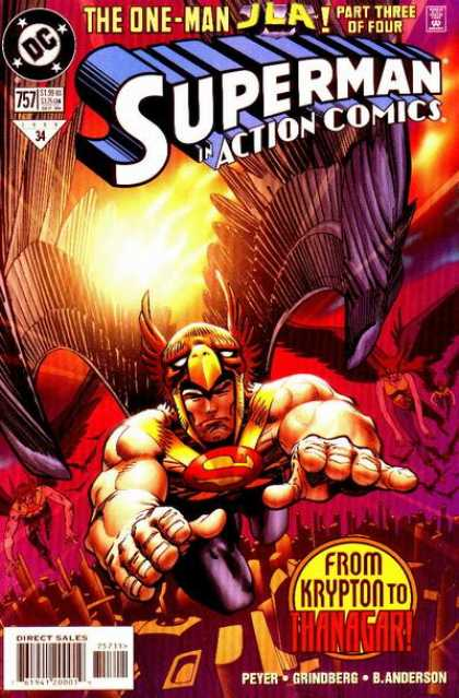 Action Comics 757 - Superman - Hawkman - Thanagar - Krypton - Dc - Walter Simonson