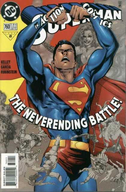 Action Comics 760 - Superman - Neverending Battle - Female Ion Background - Red Cape - Sword - Phil Jimenez