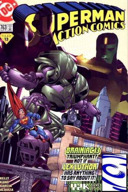 Action Comics 763 - Brainiac 13 - Superman - City - Jaime Mendoza