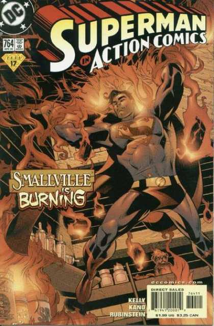 Action Comics 764 - Burning - Superman - Smallville - Dc - Smallvill - John Dell
