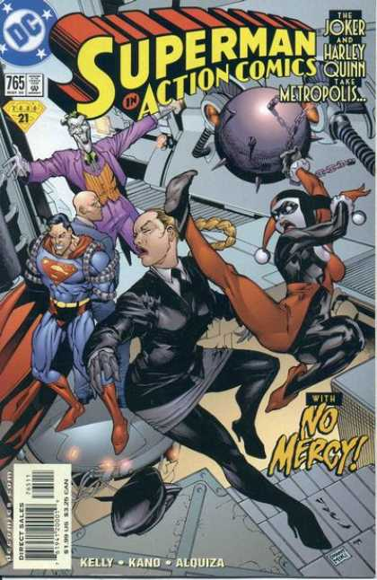 Action Comics 765 - Joker - No Mercy - Superman - Harley Quinn - Kelly - Yvel Guichet