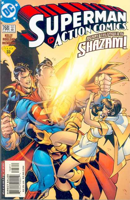 Action Comics 768 - Shazam - Superman - Superboy - Against The Power Of Shazam - Female Antagonist - Duncan Rouleau