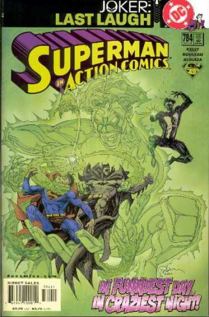 Action Comics 784 - Batman - Superman - Joker - Green Lantern - Last Laugh - Bill Sienkiewicz