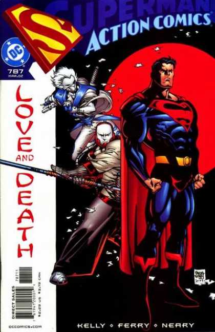 Action Comics 787 - Superman - Ninja - Dc Comics - Action Comics - Love And Death - Pascal Ferry