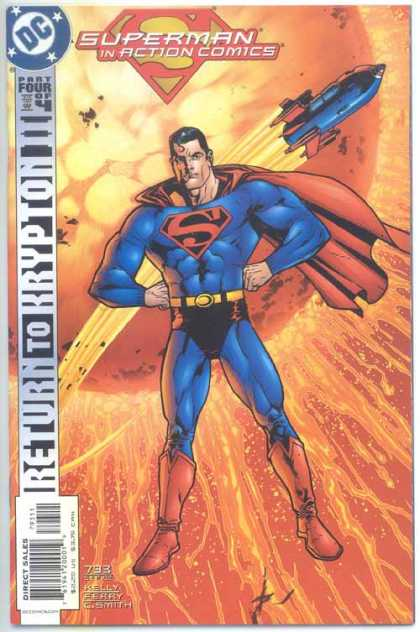 Action Comics 793 - Superman - Rocket - Sun - Kilian Plunkett