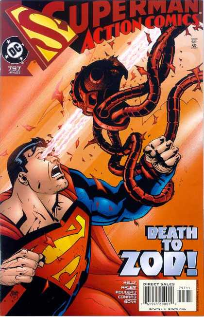 Action Comics 797 - Zod - Superman - Heat Vision - Kelly - Death - Pascal Ferry