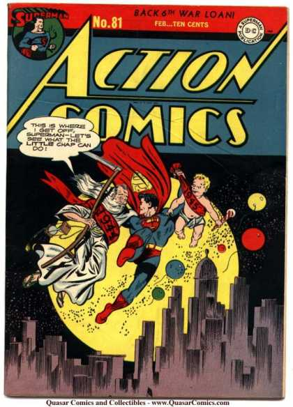 Action Comics 81 - Superman - Action - 1944 - 1945 - New Year