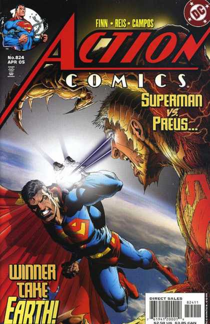 Action Comics 824 - Superman - Preus - Earth - Claw - Laser Eyes
