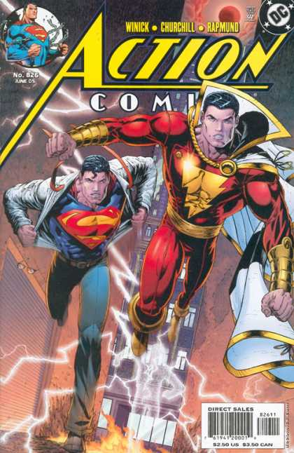 Action Comics 826 - Superman - Alley - Shazam - Flames - Tall Building - Dave Stewart