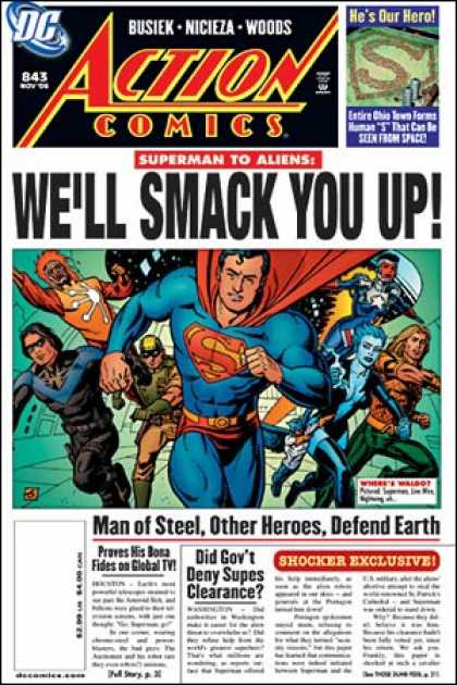Action Comics 843 - Smack - Dave Gibbons