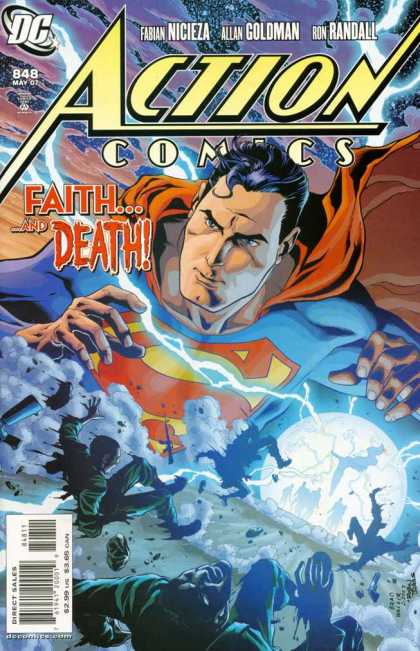 Action Comics 848 - Superman - Red Cape - Lightning - Planet - Universe - Robin Riggs