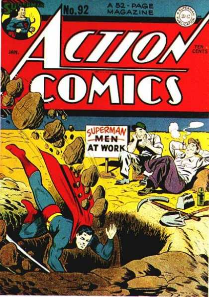 Action Comics 92 - Superman - Shovel - Lunch Box - Thermos - Sign