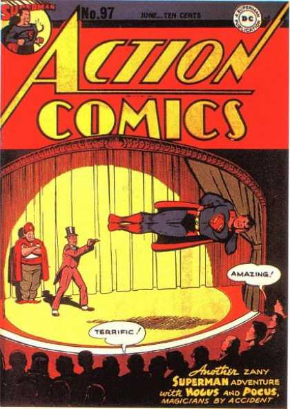 Action Comics 97 - Superman - Stage - Audience - Magician - Joe Shuster